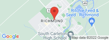 Google Map of 6104+Perth+Street%2CRichmond%2COntario+K0A+2Z0